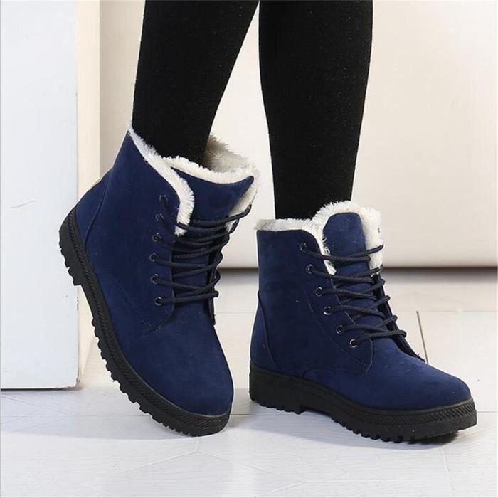 Bottine Femme hiver Durable peluche boots BJ-XZ003Gris-35 7LdXhVW