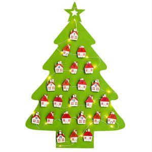 COFFRET DE DÉCORATION Décorations de Noël Lumières Arbre Calendrier Hôte