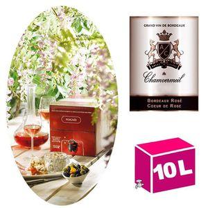 VIN ROSÉ BIB 10L AOC Bordeaux rosé, Cœur de Rose 2018 Chamv