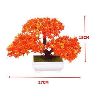 FLEUR ARTIFICIELLE Bonsaï arbre dans un pot carré - décoration de pla