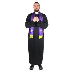 DÉGUISEMENT - PANOPLIE Un déguisement de prêtre religieux pour adulte.