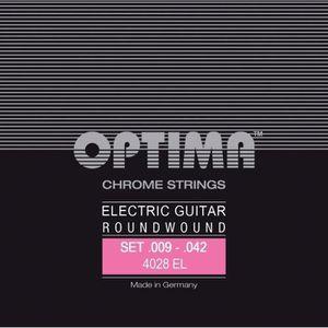 CORDE POUR INSTRUMENT Cordes Optima pour guitares électriques Chrome Str