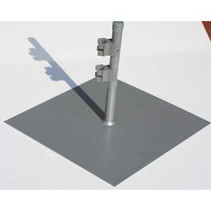 PIQUET - POTEAU Pied paravent plat-carrée Gris Acier galvanisé, C