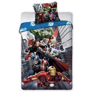 HOUSSE DE COUETTE ET TAIES Parure de couette imprimée Avengers