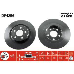 DISQUES DE FREIN TRW Lot de 2 Disques de frein DF4256