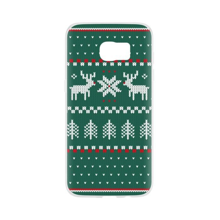FLAVR Coque Case Ugly Xmas Sweater - Galaxy S7 Edge - Vert