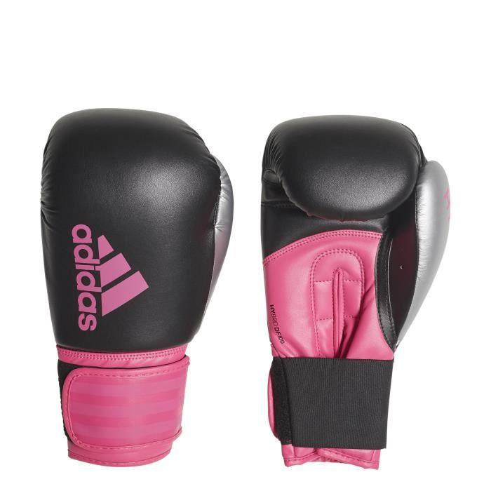 big sale 96448 859e7 Gants adidas de boxe Hybrid 100 - noir rose flash - 8oz