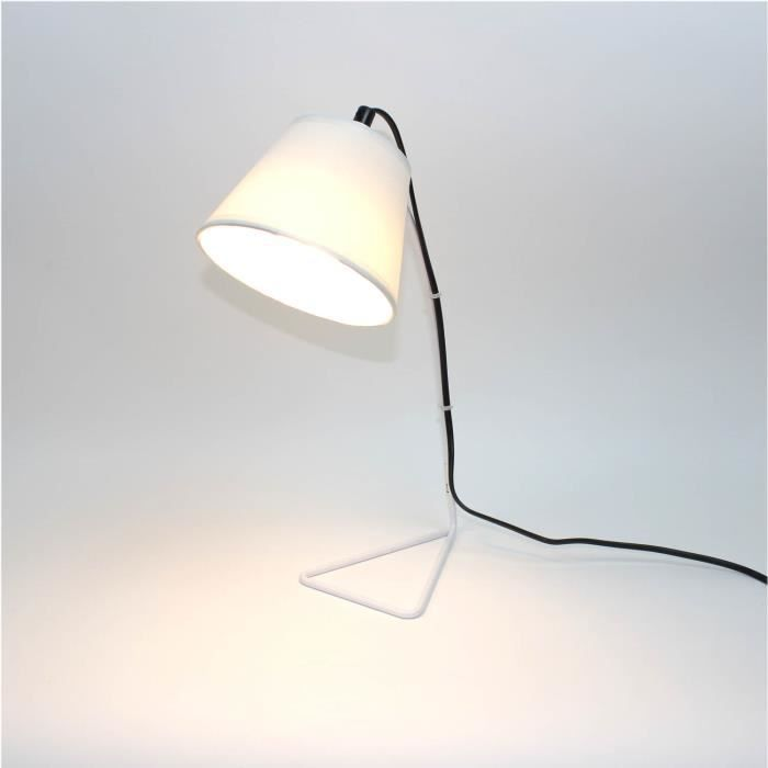 lampe de chevet blanc design achat vente lampe de. Black Bedroom Furniture Sets. Home Design Ideas