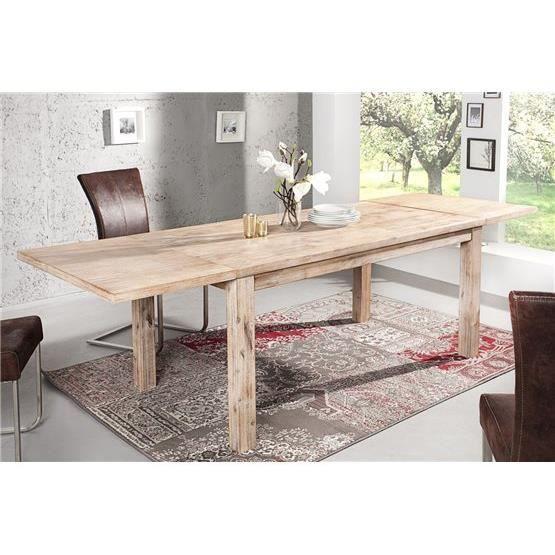 Table à Manger Extensible Oneal Bois Clair Achat Vente Table à