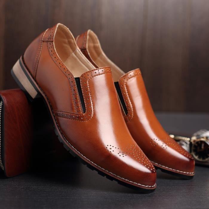 Chaussures en Cuir Homme Soulier Habillées Chaussures De chaussures 2017 Nouveau Mode - marron 4jAnNzSbF