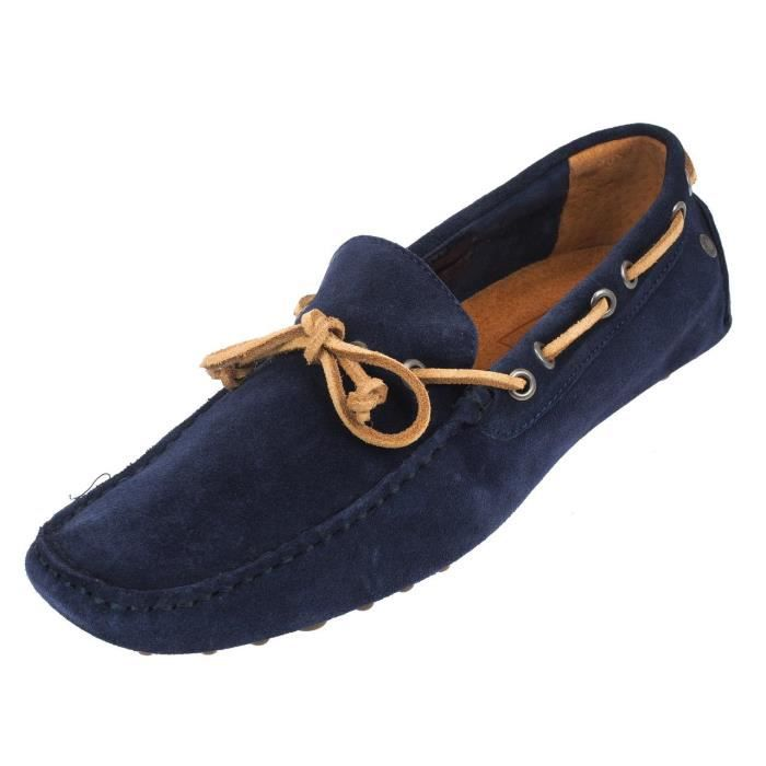 Chaussures basses cuir ou synthétique Cannes navy blazer - Jack and jones