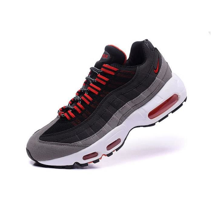 outlet store 6cb14 dff20 Basket Nike Air Max 95 Homme Running Chaussure Noir et Gris Taille 40~45