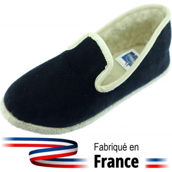 date de sortie 6f4f6 52f47 Chartres - Charentaise Homme tissu aspect Bamara noir ...