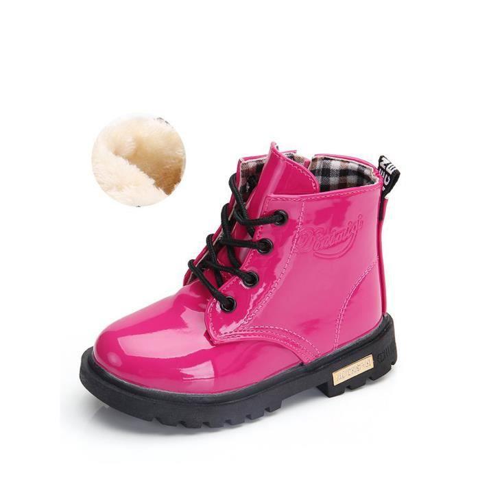 Bottes Martin Kid bonbons couleur doublure en peluche Gardez bottes chaudes 11712824