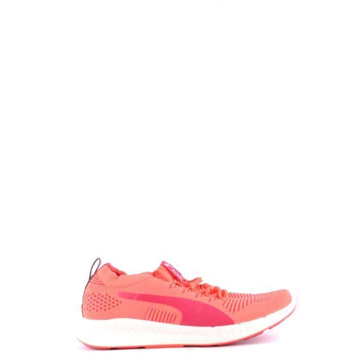 basket puma tissu rouge