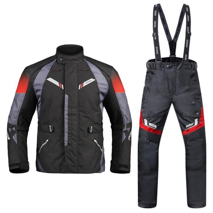 Hommes Duhan Moto Veste Costume Pantalon Hiver Automne ZS4TxvSwq