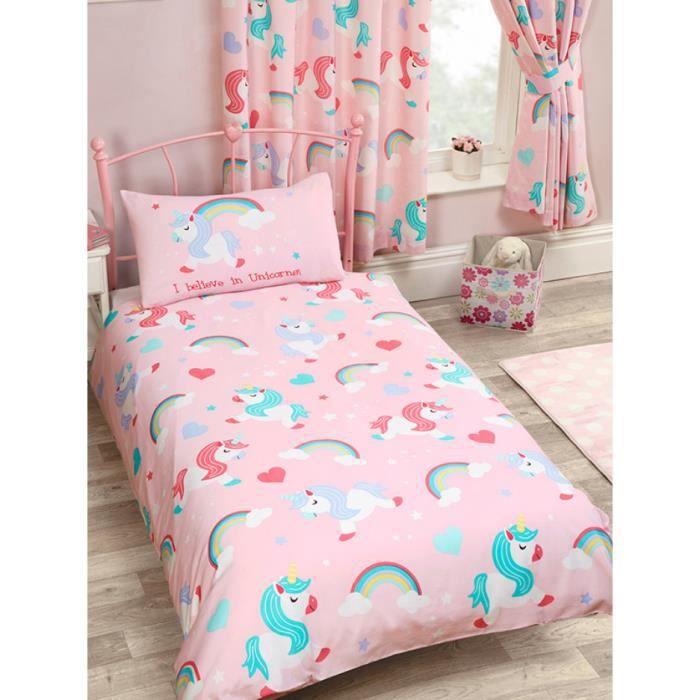 je crois en licornes housse de couette junior et taie d 39 oreiller set assorti enti rement. Black Bedroom Furniture Sets. Home Design Ideas