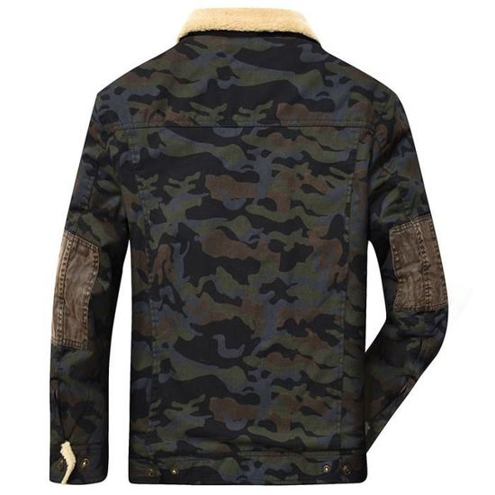 Mode Parka Hiver Chaud Camouflage Hommes 88Bw0tP