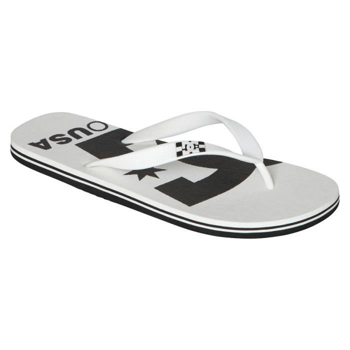 DC SHOES Spray Logo Tong Homme - Taille 44.5 - BLANC