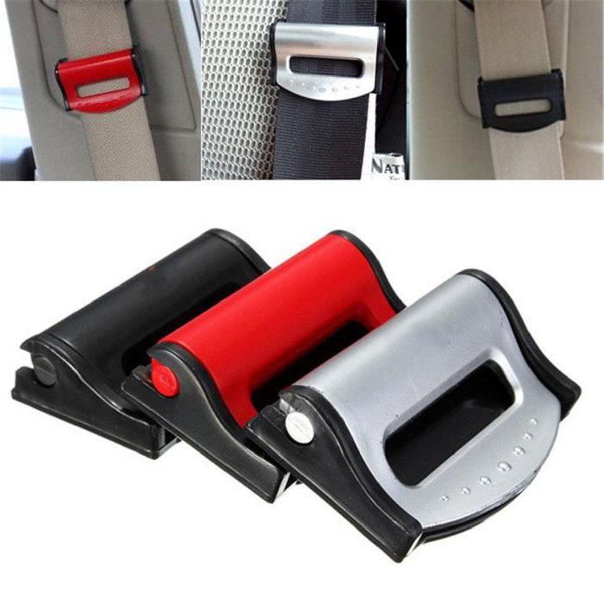 clip pince bloque ceinture de s curit universel argent blocage auto voiture achat vente. Black Bedroom Furniture Sets. Home Design Ideas
