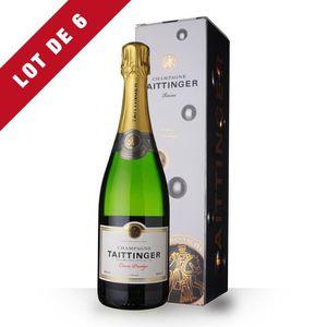 CHAMPAGNE 6X Taittinger Cuvée Prestige 75cl - Etui - Champag
