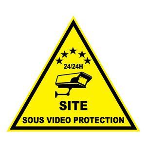 PANNEAU EXTÉRIEUR Adhésif Site Sous Vidéo Protection (6EX)