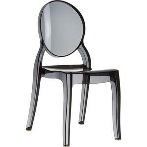 chaise transparente polycarbonate elisabeth achat vente chaise cdiscount. Black Bedroom Furniture Sets. Home Design Ideas