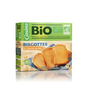 BISCOTTE - ASSIMILÉ CASINO Biscottes au germe de blé - 300 g