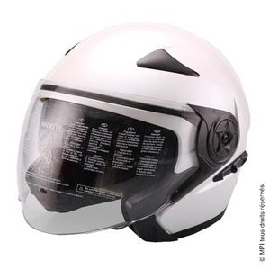 CASQUE MOTO SCOOTER CASQUE JET - TAILLE S - BLANC