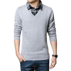 PULL Pull Homme Col De Chemise Marque Slim Fit Pull ...