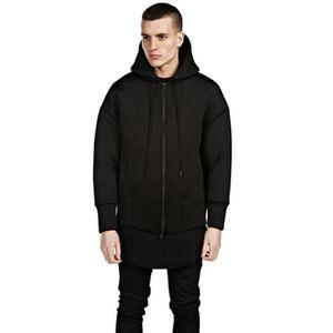 BLOUSON Blouson Veste à capuche Homme Marque Noir Mode Déc