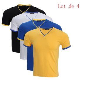 T-SHIRT Lot de 5/Lot de 4/Lot de 3 T shirt Homme uni  basi