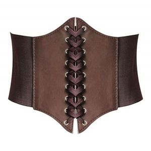 CEINTURE ET BOUCLE Lacets Corset élastique rétro Cinch ceinture Ceint ... 1796f006fd2