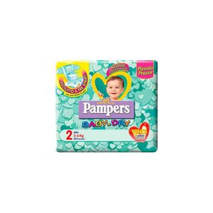 COUCHE PAMPERS BABY-DRY 2 3-6 KG.24 PZ.