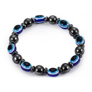 BRACELET - GOURMETTE unisexe Bracelet magnetique perles hematite pierre
