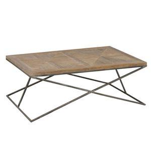 TABLE BASSE Table basse rectangulaire Bois/Métal - PIETRO - L