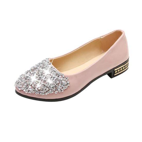 new product 155b7 8ee26 Zareste®Femmes Bouche Peu Profonde Couleur Pure Bout Carré Slip On  Chaussures à Talons Épais