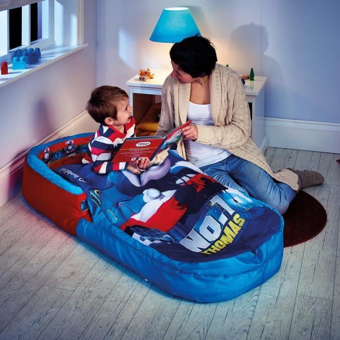 WORLDS APPART THOMAS ET SES AMIS Lit d'Appoint / Sac de couchage enfant avec sac de transport ReadyBed