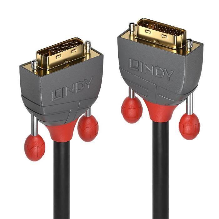 LINDY Câble DVI-D Dual Link - Anthra Line - 10m