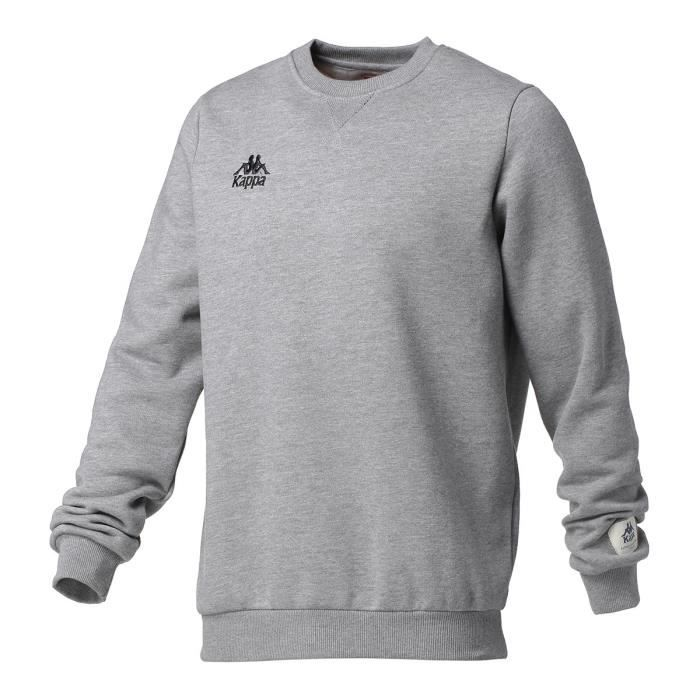 KAPPA Sweat Col Rond - Homme - Gris clair