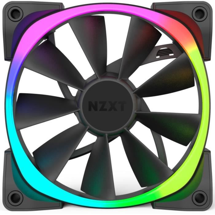 NZXT Ventilateur PC à commande numérique Aer RGB - LED RGB - 120 mm - Compatibilité avec HUE+ et CAM