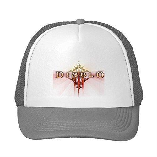 4d996aa001614 Casquette de baseball Diablo 3 Logo Delli Trucker Snapback Sun Hat gris