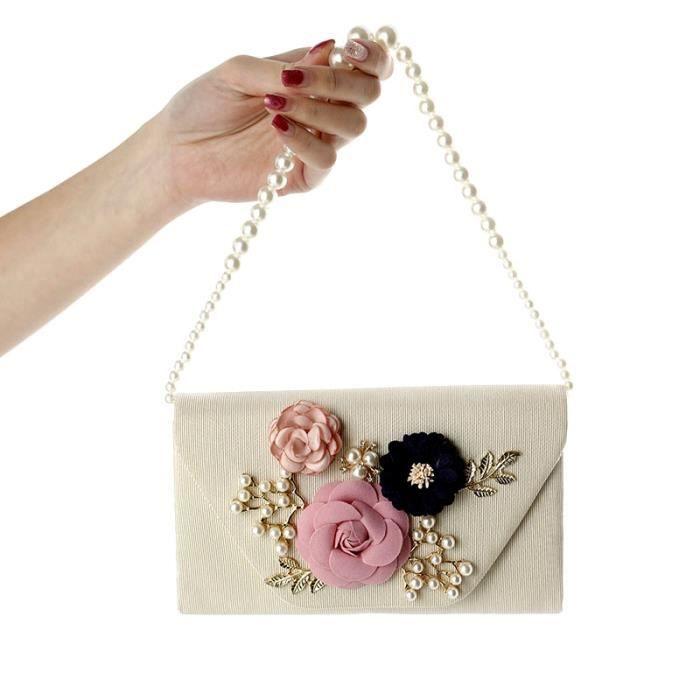 style de mode prix pas cher vente chaude pas cher Pochette Sac de soirée Femme Sac à main de mariage Floral ...