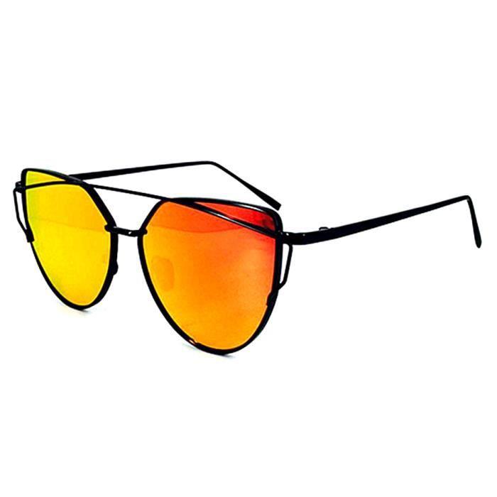 bordés réfléchissantes de fashion Cat soleil mercure YKS lunettes rouge qf7Zw