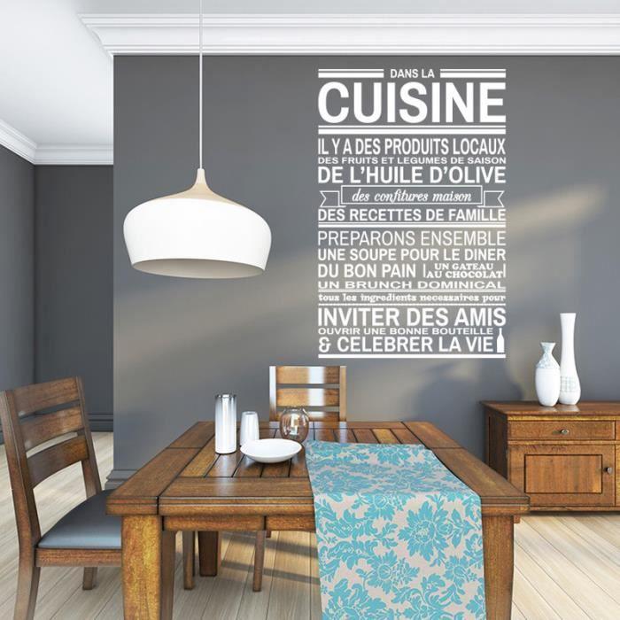 blanc cr ative famille stickers muraux pour cuisine. Black Bedroom Furniture Sets. Home Design Ideas
