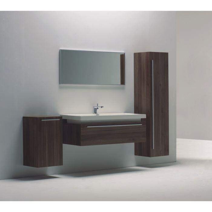 meuble de salle de bain suspendu bois 120cm achat. Black Bedroom Furniture Sets. Home Design Ideas