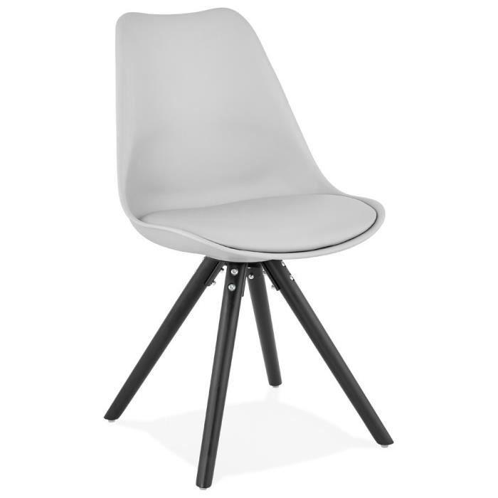 Chaise en plastique grise - Achat   Vente pas cher 30197f4a05e4