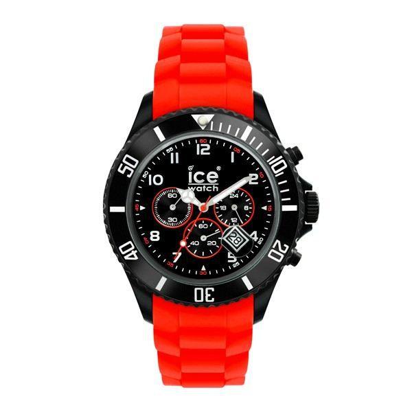 montre ice watch big chrono noire et rouge noir rouge. Black Bedroom Furniture Sets. Home Design Ideas