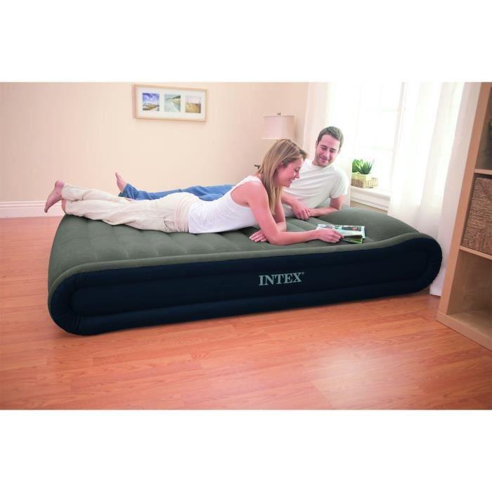 intex matelas d 39 appoint gonflable 150x200cm 41cm gonfleur fermet r glable achat vente lit. Black Bedroom Furniture Sets. Home Design Ideas