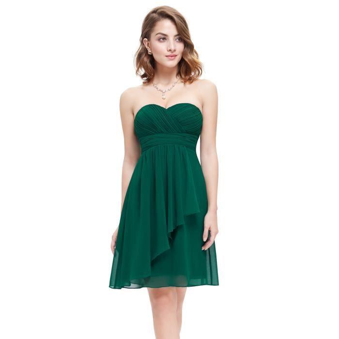 luna et margarita robe courte verte de soir e d vert